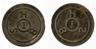 Singapore Harbor Board Tinned-Iron 1-Cent Token ND