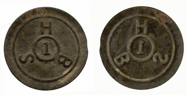 18: Singapore Harbor Board Tinned-Iron 1-Cent Token ND