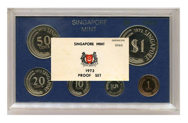 6: Proof Set: 1972. Mintage 749 only. Low Cert. No.0060