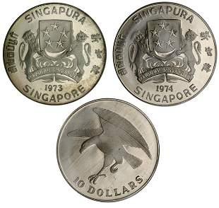 Silver $10 Proof Eagle 1973 & 1974