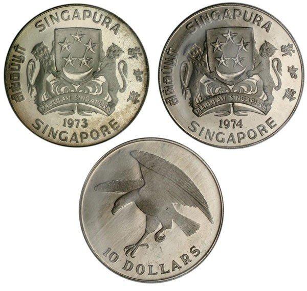 17: Silver $10 Proof Eagle 1973 & 1974