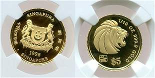 Gold: $5 1/10 oz 1996