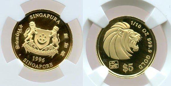 24: Gold: $5 1/10 oz 1996