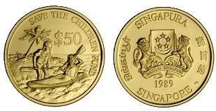 """Gold: $50 """"Save the Children Fund"""". Mintage 3000"""