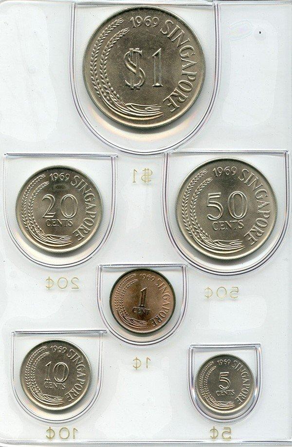 1: SINGAPORE - MODERN ISSUES Mint Set: 1969 (10sets)
