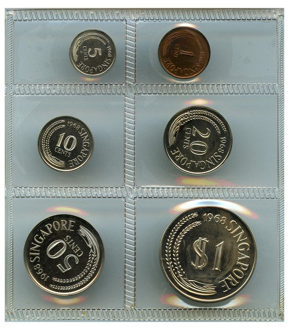 6: SINGAPORE - MODERN ISSUES Proof Set: 1, 5, 10, 20, 5