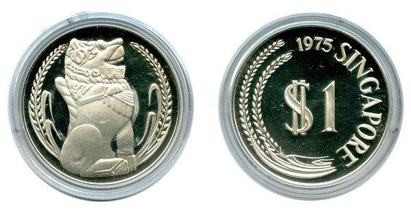 17: SINGAPORE - MODERN ISSUES Silver: Proof $1 complete