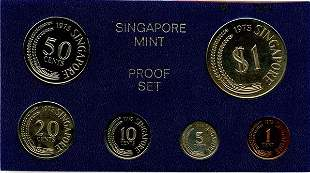 SINGAPORE. Proof Set: 1973 comprising 1-, 5-, 10-,
