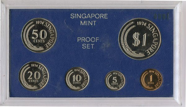14: SINGAPORE. Proof Sets: 1974, 1977 & 1984 comprising
