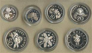 SINGAPORE. Sterling Silver Proof Coin Set 2000 and