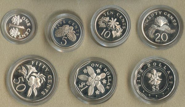 15: SINGAPORE. Sterling Silver Proof Coin Set 2000 and