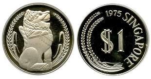 SINGAPORE. Silver: $1 complete set 1975-80, 1975 ke