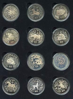 SINGAPORE. First Series Cu-Ni $10 Chinese Almanac S