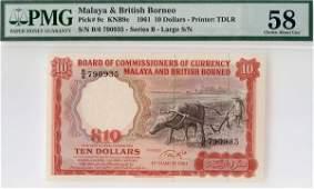 """1157: MALAYA & BB. Buffalo: $10 1961 B/6 790935 """"Large"""