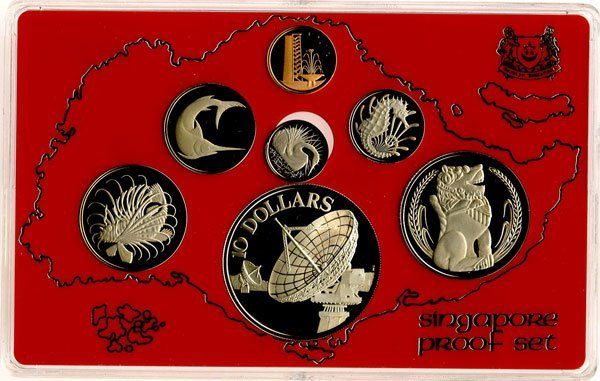 SINGAPORE. Proof Set 1¢ to $10 1980 (KM ) Proof in orig