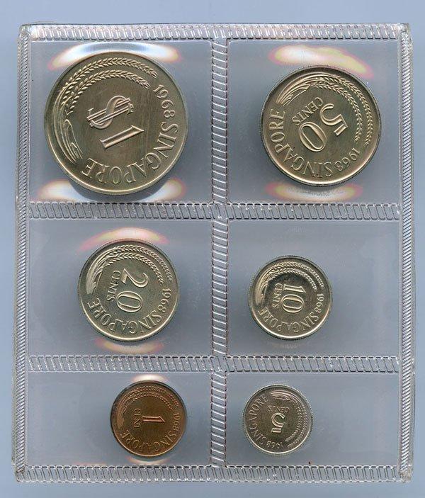 SINGAPORE Proof Set: 1968