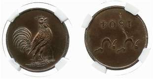 SINGAPORE Copper 1¢ 1804 Proof UNIQUE