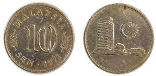 MALAYSIA Cu-Ni 10-Sen 1971 (KN4) AU