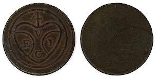 MALAYSIA Penang Copper 1¢ ND 1786 GVF