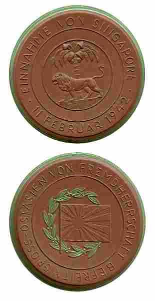 SINGAPORE - MODERN ISSUES. Clay Medal Einnahme Von