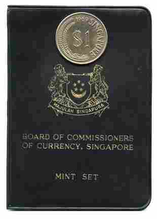 SINGAPORE - MODERN ISSUES. Mint Set: 1, 5, 10, 20,