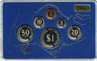 SINGAPORE - MODERN ISSUES. Proof Set: 1, 5, 10, 20,