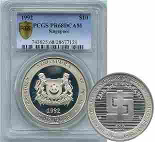 SINGAPORE - MODERN ISSUES. Silver: $10 1992