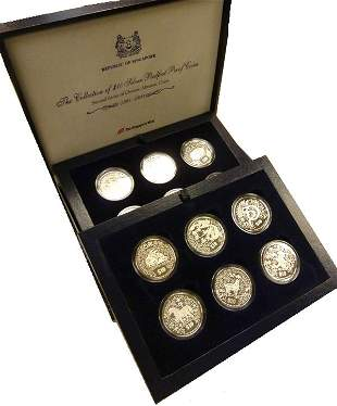 SINGAPORE - MODERN ISSUES. Silver $10 complete set of