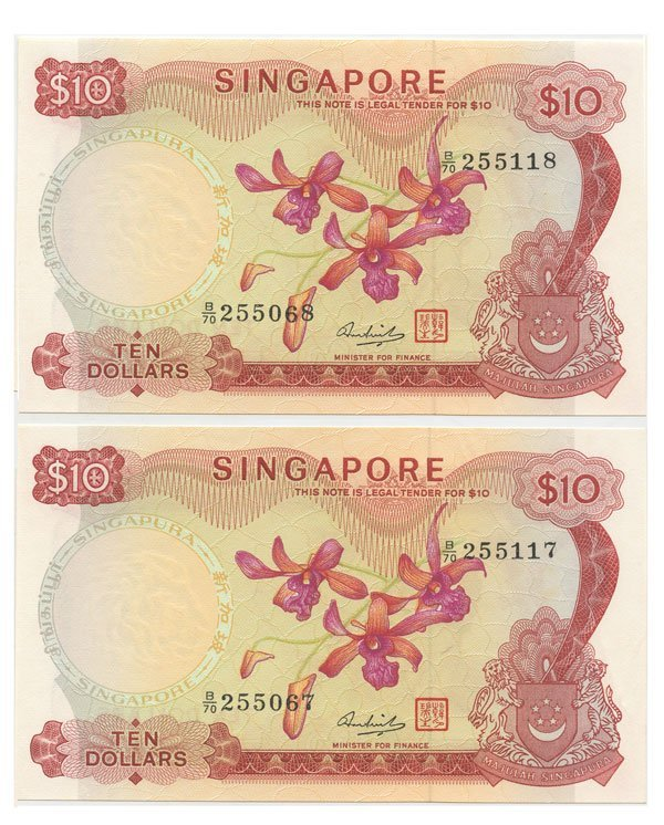 SINGAPORE - MODERN ISSUES.  Orchid Series: $10 HSS with