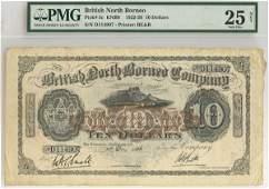 BRITISH NORTH BORNEO. British North Borneo Company $10