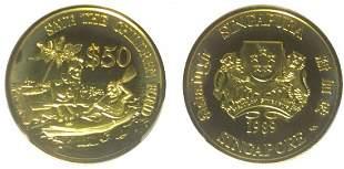 SINGAPORE - MODERNGold $50 1989, Save The Children Fund
