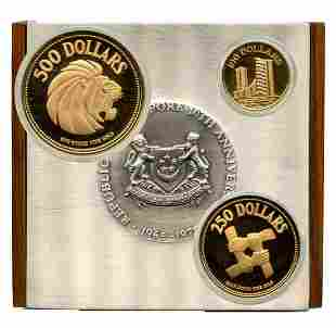 SINGAPORE - MODERNGold Proof 10th Anniversary 1965-75