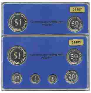 SINGAPORE - MODERNProof Set: 1, 5, 10, 20, 50-Cents &