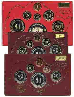 SINGAPORE - MODERNProof Set: 1, 5, 10, 20, 50-Cents, $1
