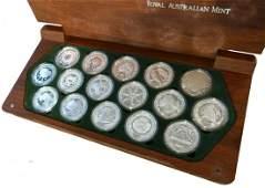 AUSTRALIA Silver: Set of 16 pieces 1 oz silver proof