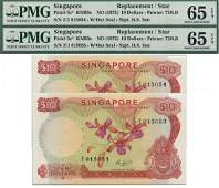 SINGAPORE - MODERNOrchid Series: $10 HSS without seal