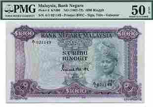 MALAYSIA - MODERN 1st Series: RM1000 Sa-Rebu ND (1967)
