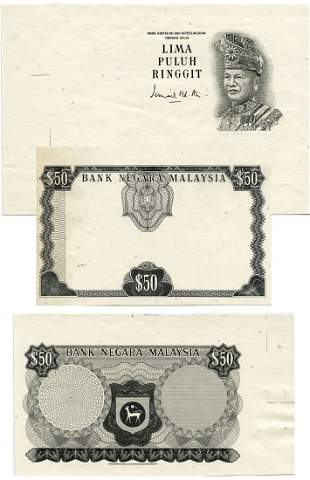 MALAYSIA - MODERN 1st Series: RM50 (1967-72) Bradbury,