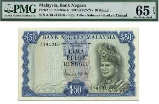 MALAYSIA - MODERN 1st Series: RM50 First prefix A/13