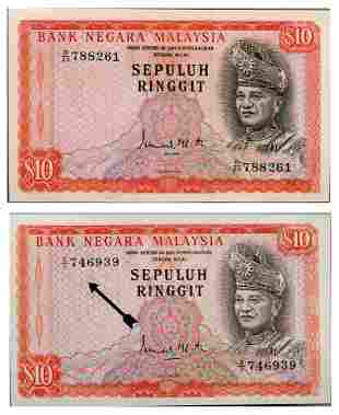 MALAYSIA - MODERN 2nd Series: RM10 Sepuluh s/n D/23