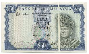 MALAYSIA - MODERN 3rd Series: RM50 A/85 036341 error