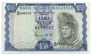 MALAYSIA - MODERN 3rd Series: RM50 B/40 680553 (KNB16)