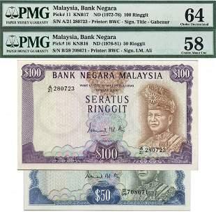 MALAYSIA - MODERN 3rd Series: RM50 B/59 708671 & RM100