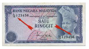 MALAYSIA - MODERN 3rd Series: RM1 Ladder numbers L/16