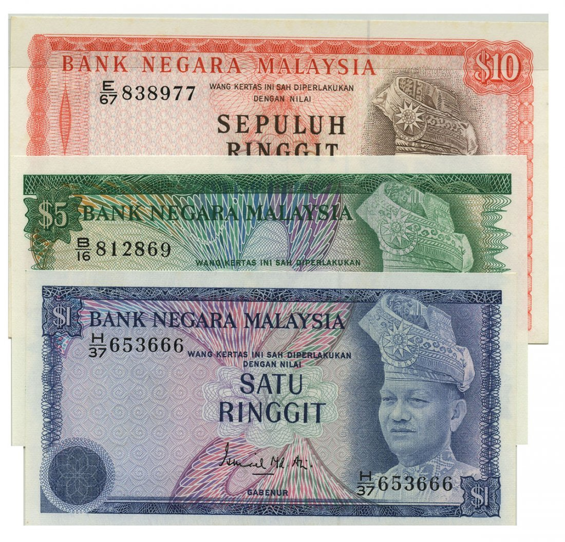 MALAYSIA - MODERN 3rd Series: Set of RM1 H/37 653666,