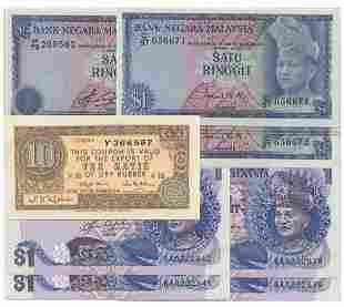 MALAYSIA - MODERN 1st, 4th & 5th Series: RM1 pair C/97