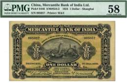 CHINA FOREIGNBANKS Mercantile Bank of India Ltd: $1