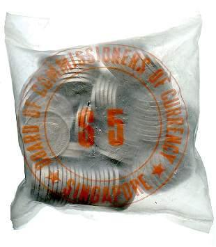 SINGAPORE Aluminum: 5-Cents 1971 FAO commemorative