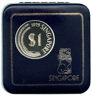SINGAPORE Silver: Proof Merlion Dollar complete set
