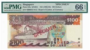 SINGAPORE Ship specimen